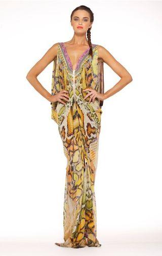 Camilla Long Flowing Snakeskin Dress